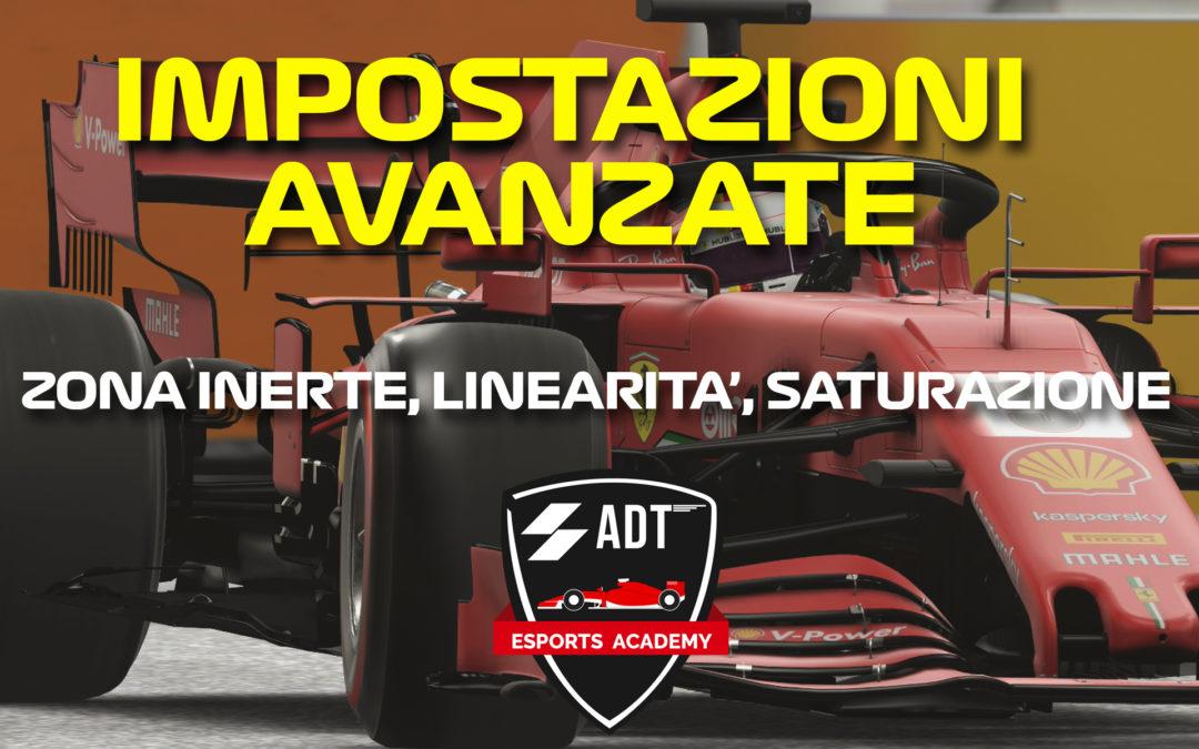 Come settare le impostazioni avanzate (volante e pad) su F1 2020